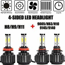 Car Headlight Bulb 9005 And H11 LED Combo 4-Side High/Low Beam Super Bright