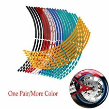 "16Pcs  17""18"" Strips Motorcycle Car Wheel Tire Stickers Reflective Rim Tape Moto"