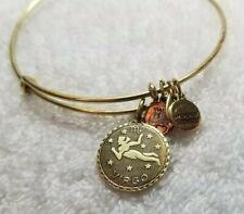 ALEX AND ANI Virgo Zodiac Astrology Charm Adjustable Bangle Gold Tone