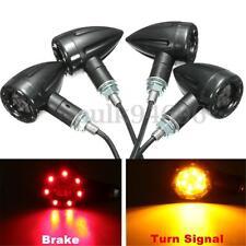 4pc Universal Motorcycle LED Rear Turn Signal Brake Indicator light Running Lamp