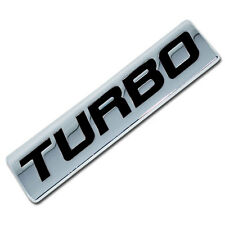 CHROME/BLACK METAL TURBO ENGINE RACE MOTOR SWAP EMBLEM BADGE FOR TRUNK HOOD DOOR