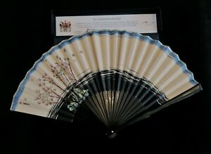 Silk Hand Fan - Handmade - Royal Couture Commemorative Signed Limited Edition