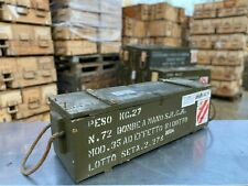 More details for original army green wooden ammo jeep storage box chest retro chic garden tools