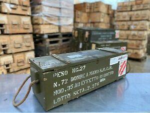 Original Army Green Wooden Ammo Jeep Storage Box Chest Retro Chic Garden Tools