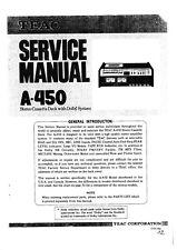 Service Manual-Anleitung für Teac A-450