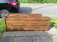 Narrow  wooden untreated planter/trough