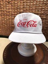 VTG White Enjoy Coca Cola Coke Snapback Hat Cap Rare 80s 90s