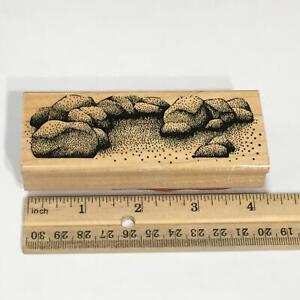 Rocks Landscape SCENERY NATURE by Stamp In The Hand Rubber Stamp