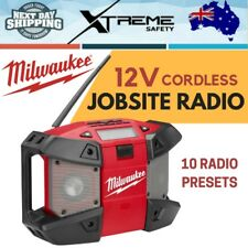 New MILWAUKEE 12V FM Rugged Weather Proof Cordless Jobsite Radio - Skin Only