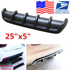 "Universal 25""x5""ABS Matte Black Rear Shark Curved Addon Bumper Lip Diffuser USA"