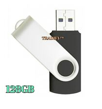 128GB USB 2.0 Flash Drive Disk Memory Pen Stick Thumb Storage Swivel Metal Black