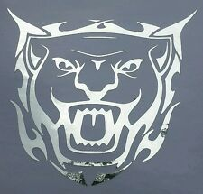 Tribal Jaguar Chrome - Custom vinyl car sticker, decals, graphics, Tribal