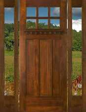 Mahogany Exterior  Door  arts and crafts ac 901 2 101 sidelights