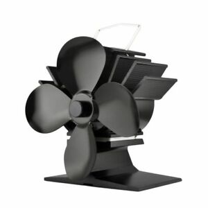 Stove Fan for Wood Burners & Multi Fuel Gas Stoves Small 4 Blade New For 2020