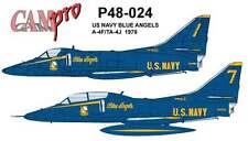 CAM PRO DECAL, 1/48 SCALE, P48-024, A-4/TA-4 SKYHAWK, BLUE ANGELS, 1978