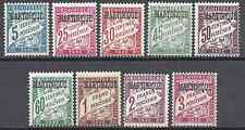 MARTINIQUE TIMBRE TAXE N°1/11 SAUF N°2/3 NEUF ** LUXE MNH COTE 122€