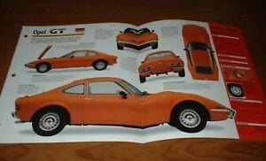 ★★1970 OPEL GT 1900 ORIGINAL IMP BROCHURE SPECS INFO 70 68 69 71 72 73 GT1900★★
