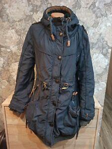 Naketano Women's winter  jacket blue color size L hooded