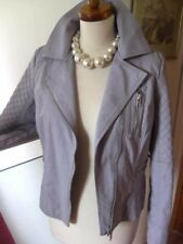 Ladies Limited Edition M&s Lavender Faux Leather Jacket UK 10 8 Biker Bomber