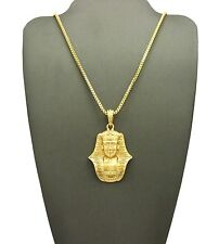 Various Hip Hop Chain Necklace Xqp45G Egyptian Pharaoh Head King Tut Pendant 24""