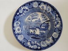 Ancien plat chine.Olddish china  or Delft? 19 18th century English transferware?