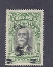Liberia 1920, 5c on 10c Harper, TRIPLE overprint, mint, RRR #180