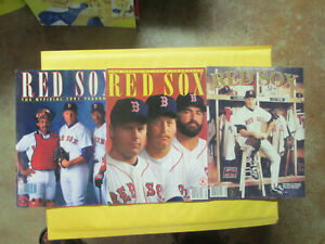 1991, 1992 + 1993 BOSTON RED SOX YEARBOOKS ROGER CLEMENS COVERS
