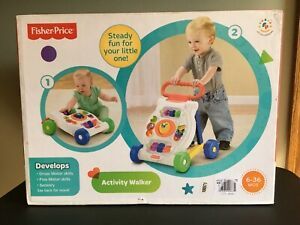Fisher Price Activity Walker  Ages 6-36 Months  Brand New Toddler Toy