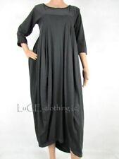 Vestiti da donna maxi grigi in cotone