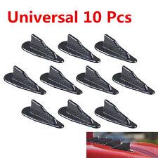 10x PP Roof Shark Fins Spoiler Wing Kit Vortex Generator Carbon Fiber Universal