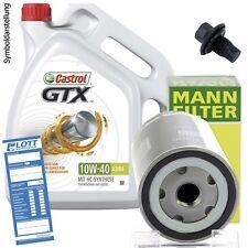 5L Castrol GTX Ultra Clean 10W-40 Motoröl + MANN Filter + Schraube für Audi / VW