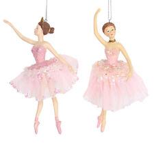 Gisela Graham Single Pink Dress Ballerina Christmas Tree Bauble Ornament