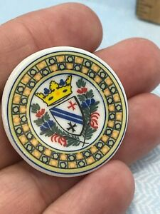 Quimper Plate Brittany Crest Coat of Arms French Feves Dollhouse Miniatures v21