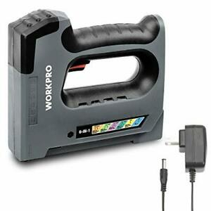 WORKPRO 6 in 1 Cordless Staple Gun 3.6V Rechargeable Electric Stapler Charger...