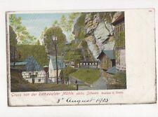 Gruss Von Der Rathewalder Muehle Saeche Schweiz 1903 U/B Postcard Germany 638a