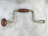 Vintage Hand Drill Bit Brace Hand Drill