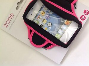 New Women's Zone Training Arm Band for iPhone 4 and 5 Pink and Black