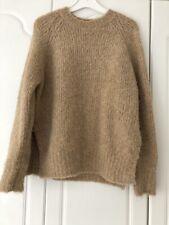Camel Oak + Fort Wool Mix Jumper Sweater Small Cosy Knit