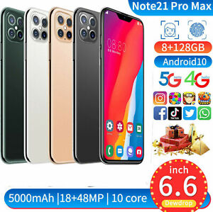 "Note21Pro Max 8GB 128GB Android 10 RAM (FACTORY UNLOCKED) 6.5"" FHD+2230*1080"