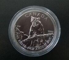 Cougar 2012 - Canada Wildlife Series - 1oz 9999 Fine Silver Bullion