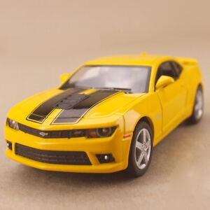 2014 Chevrolet Camaro Yellow 1:38 Scale Die-Cast Model Car PullBack Detailed OLP
