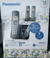 PANASONIC KX-TG833SK Link2Cell Cordless Telephone Answer Machine 3 Handsets NIB