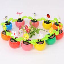 Solar Power Flip Flap Flower Swing Dancing Flower Toy Home Car Decor