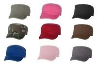 UNISEX CADET CAP - MG ALTERNATIVE VALU - MILITARY, FIDEL, ARMY HAT, 100% COTTON