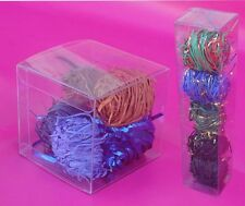 50 PCS 2x2x2 Clear Plastic Tuck Top Box Cosmetic Pack Retail Packaging Display