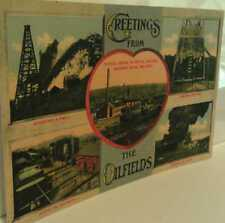 Old Pennsylvania Oilfields Oil Well Drilling Refinery Multi-View Postcard Repro
