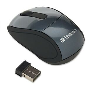 Verbatim 97670 Wireless Nano Notebook Optical Mouse Graphite Gray Optical RF