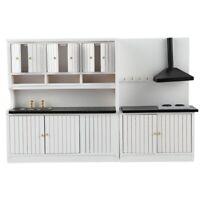 1X(1:12 Dollhouse Miniature Furniture Wooden Kitchen Set W7E4)