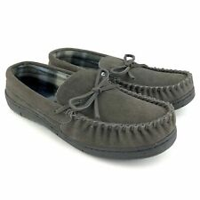 Route 66 Jordan 4 Slippers Men's Size 7 Grey Suede Leather Rubber Sole Moccasin
