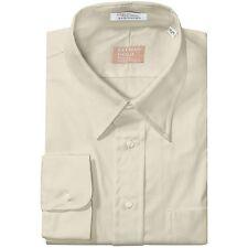 Gitman Bros. - 22/40 T - NIP - Solid Ecru Cotton Oxford Button-Down Dress Shirt